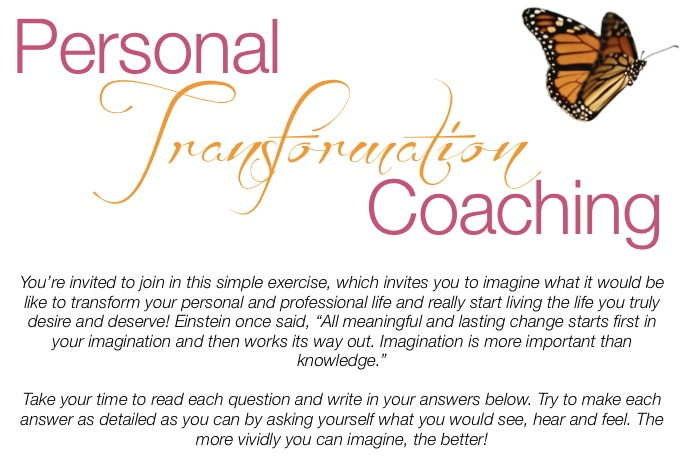 Personal Transformation Coaching Exercise